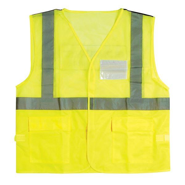תמונה של אפוד צוות קרקע זוהר 11-5500 S צהוב זוהר