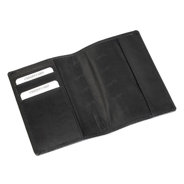 תמונה של כיסוי לדרכון מעור 17.820.510 שחור