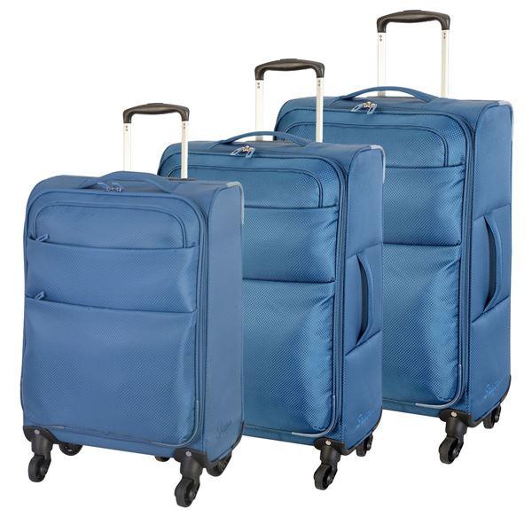 תמונה של סט מזוודות קלות אמסטרדם 4204-72 פטרול
