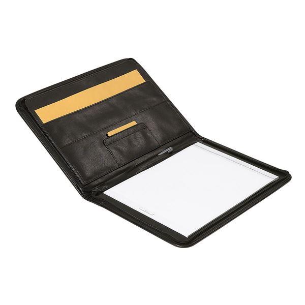 תמונה של פולדר A4 דמוי עור עם רוכסן 10.109.910 שחור