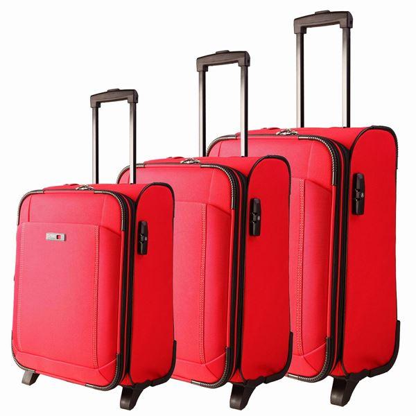 תמונה של סט מזוודות לייזר 2 גלגלים, אדום 35001-723-30 אדום