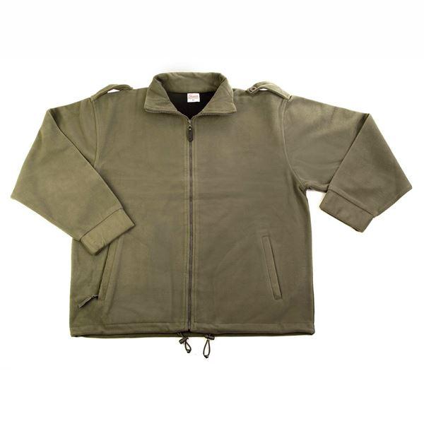 תמונה של מעיל פליז 10-04 ירוק זית