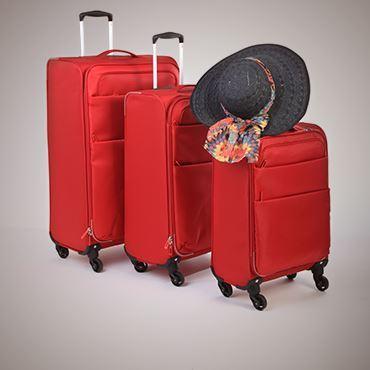 תמונה עבור הקטגוריה מזוודות, תיקי טרולי, ואביזרים לנסיעות