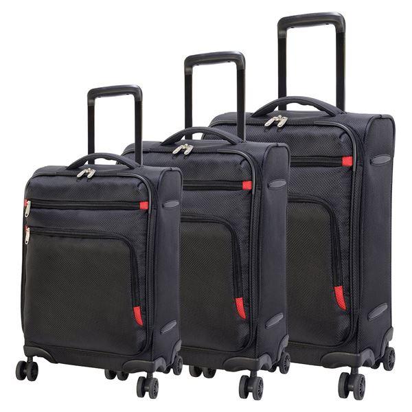 תמונה של סט מזוודות קלות קופנהגן  4205-72 שחור