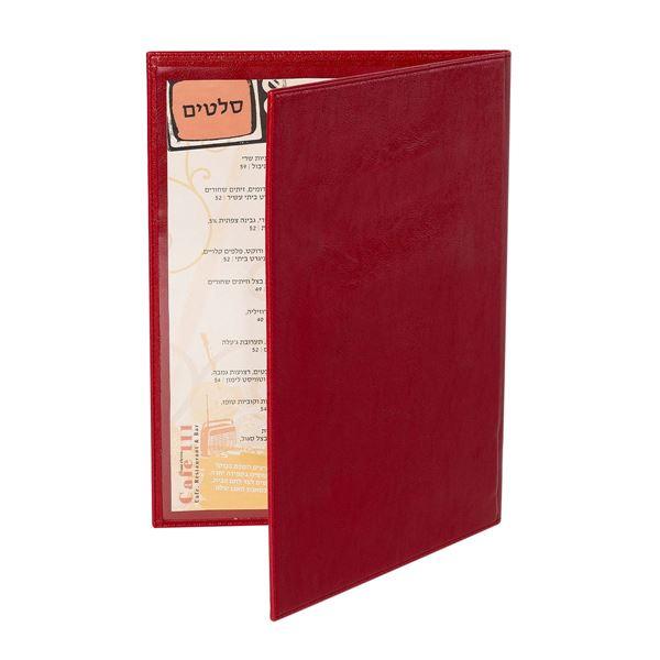 תמונה של אוגדן A4 כריכת דמוי עור 12.5998 אדום