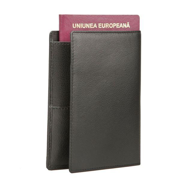 תמונה של כיסוי דרכון מעור נאפה 17.809 שחור