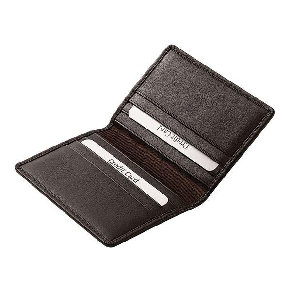תמונה של נרתיק כרטיסי אשראי מעור נאפה 16.724.341 חום כהה