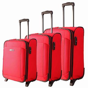 תמונה של סט מזוודות לייזר 2 גלגלים, אדום 35001-723-30