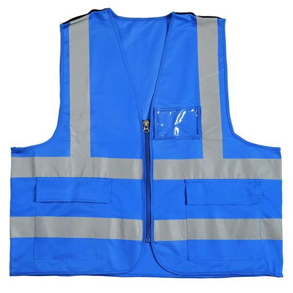 תמונה של אפוד זוהר למפקח 2595 כחול רויאל